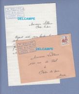 Enveloppe Ancienne Et Courrier - LAIMONT - Boulangerie Alimentation Tabac P. COLLOT , Vins De La Craffe - Postmark Collection (Covers)