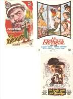 3 Carteles De Cine Diferentes.4 - Autres Collections