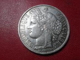 """5 FRANCS CERES 1870 A """" SANS LEGENDE"""" - J. 5 Francs"""