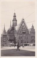 AK Breslau/Wrocław - Rathaus Von Der Kornecke - Passanten  (6184) - Schlesien