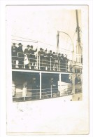 Photo Carte Départ En Bateau - Steamers