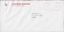Norway AUSTRIAN AIRLINES, OSLO 1987 Meter Stamp Cover Brief To Denmark - Briefe U. Dokumente