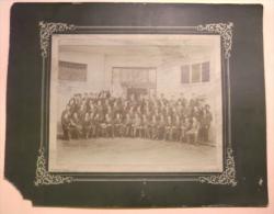 Ancienne Grande Format PHOTO G. BRUN Animée Personages CONSCRITS Aix Les Bains Savoie Classe 1900 Ecole College Lycée - Ancianas (antes De 1900)