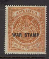 ANTIGUA 1916 1 1/2d War Stamp SG 54 HM CH16 - 1858-1960 Colonie Britannique