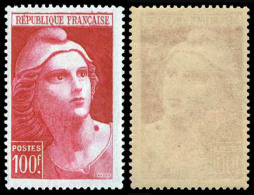 733  MARIANNE DE GANDON 100 F. CARMIN,AVEC GRAIN DE BEAUTE 1945 - 1945-54 Marianne De Gandon