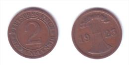 Germany 2 Rentenpfennig 1923 A - [ 3] 1918-1933 : Repubblica Di Weimar