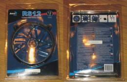 Informatique Ventilateur Aero Cool RS12 Carbon Fiber Edition Blue 12 Cm Neuf Sous Blister - Sciences & Technique