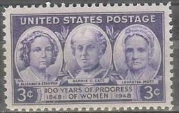1948 3 Cents Progress Of Women, Mint Never Hinged - Verenigde Staten