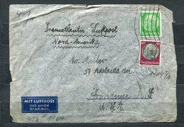 Germany 1941 Cencored  Cover Breslaw-USA Hindenburg Medalion - Germany