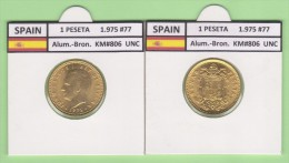SPANJE   1 PESETA  1.975 #77  Aluminium-Bronze  KM#806   Uncirculated  T-DL-9365 Holan. - 1 Peseta