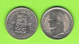 VENEZUELA - 25 Centimos 1977  KM50 - Venezuela