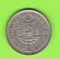VENEZUELA -  1 Bolivar 1977   KM52 - Venezuela
