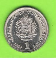 VENEZUELA -  1 Bolivar 1989   KM52 - Venezuela