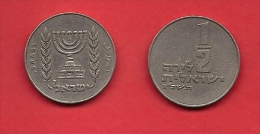 ISRAEL, 1963-1979,  Circulated Coin, 1/2 Lirah, Km 36.1  C1701 - Israël