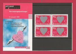 NEDERLAND, 1979, Presentation Pack Nr. 164, Valentine Day F3302 - Blocks & Sheetlets