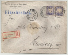 Germany 1895 Registered - Einschreiben - Recommandée - BASF Factory In Ludwigshafen To Hamburg - Covers & Documents