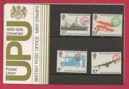 UK, 1974, Mint Stamps, Official Presentation Pack ,U.P.U. Nrs. 650-653 F3300 - Presentation Packs