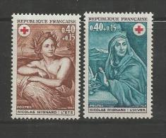 FRANCE, 1969, Mint Hinged Stamp(s) , Red Cross Serie Complete Nrs. 1692-1693 #13169 - France