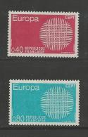 FRANCE, 1970, Mint Hinged Stamp(s) , Europe Serie Complete, 1710-1711 # 13174 - France