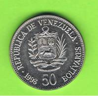 VENEZUELA -  50  Bolivar  1998  Km77 - Venezuela