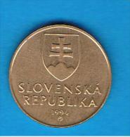 ESLOVAQUIA - 1 Koruna 1994  Km12 - Eslovaquia