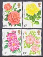 GREAT  BRITAIN  786-9    **   FLORAL  ROSES - Rosen