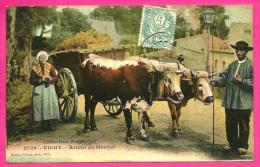 CPA 03 VICHY Allier - RETOUR Du MARCHE (Attelage De Boeufs Gros Plan) Monde Paysan - Vichy