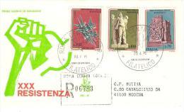ITALIA - 1975 30° RESISTENZA Su FDC Venetia Viaggiata In RACCOMANDATA - 1946-.. République