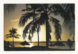 Cp, L'Ile Maurice, Coucher De Soleil à L'Hôtel St-Géran, Belle Mare, Voyagée 1985 - Maurice