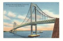 Cp, Etats-Unis, Delawarre Memorial Bridge Connecting Delaware With New Jersey - Non Classés