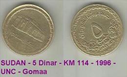 SUDAN - 5 Dinar - KM 114 - 1996 - UNC - Gomaa - Soedan
