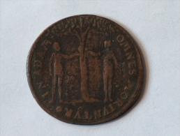 JETON OMNES IN ADAM MORIUNTUR IN CHRISTO OMNES VIVIFICA BINTUR CUIUS LIVORE SANATI SUMUS INRI NUREMBERG 1585 - Royaux/De Noblesse