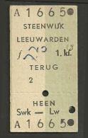 H47 HOLLAND NETHERLANDS 1st Cl Steenwijk - Leeuwarden 4 Oct 68 - Railway