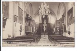 Combeaufontaine (Haute Saône 70) Rare CPA L'Intérieur De L'Eglise (Ch. André CLB) / A Destination De Cintrey - France