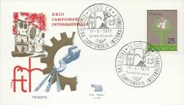 TRIESTE-23^ FIERA CAMPIONARIA INTERNAZ.LE- 17-6-1971 - Briefmarken
