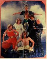 "Musik-Poster  Dschinghis Khan  -  Rückseite : Austin Martin ""Le Mans"" 1933   -  Von Rocky Ca. 1980 - Plakate & Poster"