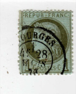 YT 50 - Cérès 1c Vert Olive - Variété Multiples - CAD Bourges 18 - 1871-1875 Cérès