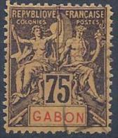 Gabon N°29 Obl. - Gabun (1886-1936)