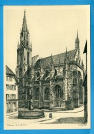 CP, 68, THANN, La Cathédrale D'après J. Klippstiehl, Vierge, Ed Hillenweck - Thann