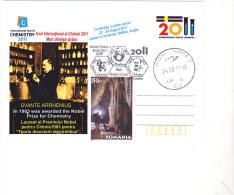 INTERNATIONAL YEAR OF CHEMISTRY, NOBEL PRICE, SVANTE ARRHENIUS, SPECIAL POSTCARD 2011 - Chemistry