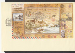 INDIA, 2011, FDC,,MINIATURE SHEET, 100 Years  Airmail  Allahabad-Naini Flight, , Jabalpur Cancellation - FDC