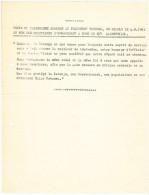 09110 KATANGA GUERRE 1961 Texte Du Télégramme Adressé Au Président Tshombé Par Les Militaires Belges. - GF - Historical Documents