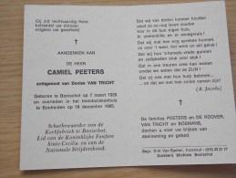 Doodsprentje Camiel Peeters Booischot 7/3/1929 Bonheiden 18/12/1995 ( Denise Van Tricht) - Religion & Esotérisme