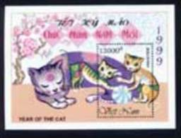 Vietnam Viet Nam MNH Perf Souvenir Sheet 1999 : Year Of Cat (Ms796B) - Vietnam