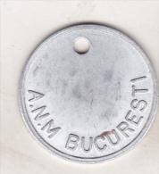 Romania - Old Token - Inventory Mark ? - ANM Bucuresti - Gettoni E Medaglie