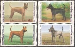 ANIMALES - THAILANDIA 1993 - Yvert #1543/46 - MNH ** - Perros