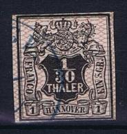 Deutsche Reich, Hannover Mi 10a  Used , Gute Zentrierung,good Centering, Signed/signiert/ Approvato - Hannover