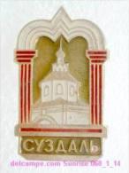 Set Russia And Soviet Towns 6: Suzdal - Kremlin / Soviet Badge USSR _068_1_14_t3890 - Städte