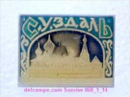 Set Russia And Soviet Towns 6: Suzdal - Kremlin / Soviet Badge USSR _068_1_14_t3907 - Cities
