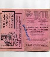 """87 - LIMOGES - LIVRET """" PRIM'UTIL """" 2 RUE JEAN JAURES- ABEILLE EPARGNE PRIMES 1500 TIMBRES - EXPOSITION NATIONALE  1932 - Documents Historiques"""